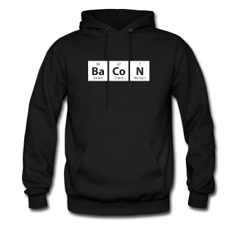 "Blue ""BaCoN Periodic Table"" Men's Hoodie"