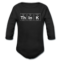 Black ThInK Baby Long Sleeve Periodic Table One Piece