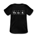 Black ThInK Baby Lap Shoulder Periodic Table T-Shirt