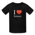 """I ♥ Science"" (white) - Kids' T-Shirt - T-Shirt - ScienceT-Shirts"