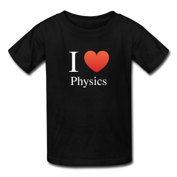 """I ♥ Physics"" (white) - Kids' T-Shirt"
