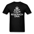 """Keep Calm and Research DNA"" (white) - Men's T-Shirt - T-Shirt - ScienceT-Shirts"