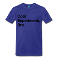Blue Cool Experiment Bro Science Men's Premium T-Shirt
