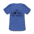 Blue In Science We Trust Baby Lap Shoulder T-Shirt