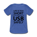 """Life is too Short"" (black) - Baby Lap Shoulder T-Shirt - T-Shirt - ScienceT-Shirts"