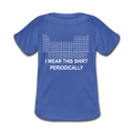 Blue I Wear This Shirt Preiodically Baby Lap Shoulder T-Shirt