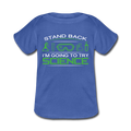 Blue Stand Back I'm Going To Try Science Baby Lap Shoulder T-Shirt