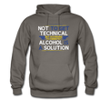 Gray Alcohol Is A Solution Men's Hoodie