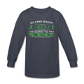 Gray Stand Back I'm Going To Try Science Kids' Long Sleeve T-Shirt