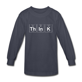 gray ThInK Periodic Table Kids' Long Sleeve T-Shirt