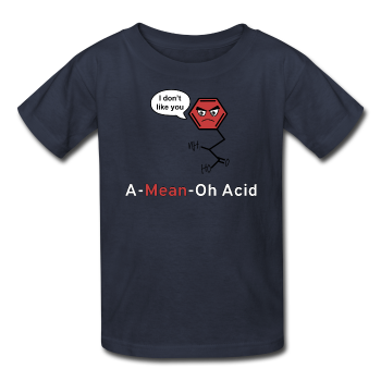 """A-Mean-Oh Acid"" - Kids' T-Shirt - T-Shirt - ScienceT-Shirts"