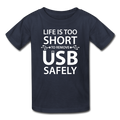 """Life is too Short"" (white) - Kids' T-Shirt - T-Shirt - ScienceT-Shirts"