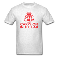 """Keep Calm and Carry On in the Lab"" (red) - Men's T-Shirt - T-Shirt - ScienceT-Shirts"