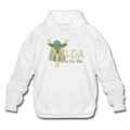 Ash Gray Yoda One For Me Star Wars Men's  Pop Culture Big & Tall Hoodie