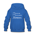 Blue Technically Full Glass Kids' Hoodie