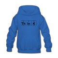 "Blue ""ThInK Periodic Table"" - Kids' Hoodie"