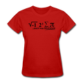 """I Ate Pi"" (black) - Women's T-Shirt - T-Shirt - ScienceT-Shirts"