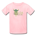 Pink Yoda One For Me Star Wars Kids' T-Shirt
