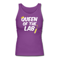 "Purple ""Queen Of The Lab"" Women's Longer Length Fitted Tank"