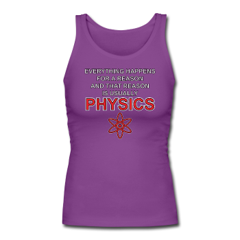 """Everything Happens for a Reason"" - Women's Longer Length Fitted Tank - Tank Top - ScienceT-Shirts"