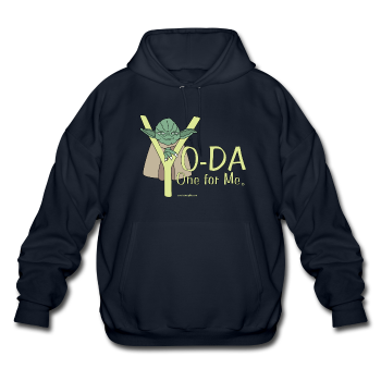Navy Blue Yoda One For Me Star Wars Men's  Pop Culture Big & Tall Hoodie