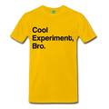 Yellow Cool Experiment Bro Science Men's Premium T-Shirt