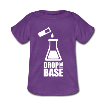 Purple Drop The Base Baby Lap Shoulder T-Shirt