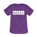 Purple BaCoN Baby Lap Periodic Table Shoulder T-Shirt