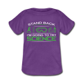 Purple Stand Back I'm Going To Try Science Baby Lap Shoulder T-Shirt