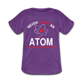 Purple Never Trust An Atom Baby Lap Shoulder T-Shirt