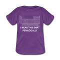 Purple I Wear This Shirt Preiodically Baby Lap Shoulder T-Shirt