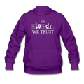 """In Science We Trust"" (white) - Women's Hoodie - Hoodie - ScienceT-Shirts"