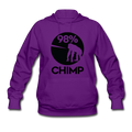"""98% Chimp"" - Women's Hoodie - Hoodie - ScienceT-Shirts"