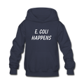"""E. Coli Happens"" (white) - Kids' Hoodie - Hoodie - ScienceT-Shirts"
