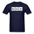 blue BaCoN Periodic Table Men's Science T-Shirt