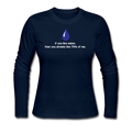 """If you like Water"" - Women's Long Sleeve T-Shirt - Long Sleeve Shirt - ScienceT-Shirts"