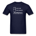 Blue Technically The Glass Is Completely Full Men's Science T-Shirt
