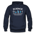 Blue Science Doesn't Care Men's Hoodie