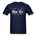 Navy BeEr Periodic Table Science Men's T-Shirt