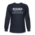 "UNPUBLISHED - Spreadshirt Article not found | UNPUBLISHED - Spreadshirt Article not found | ""Research"" (white) - Men's Long Sleeve T-Shirt - Long Sleeve Shirt - ScienceT-Shirts"