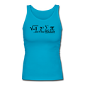 """I Ate Pi"" (black) - Women's Longer Length Fitted Tank - Tank Top - ScienceT-Shirts"