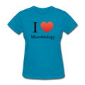 """I ♥ Microbiology"" (black) - Women's T-Shirt - T-Shirt - ScienceT-Shirts"