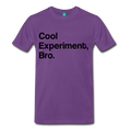 Purple Cool Experiment Bro Science Men's Premium T-Shirt