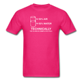 Pink Technically The Glass Is Completely Full Men's Science T-Shirt