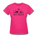 """In Science We Trust"" (black) - Women's T-Shirt - T-Shirt - ScienceT-Shirts"