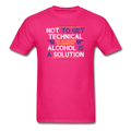 "Pink ""Alcohol Is A Solution"" - Men's T-Shirt"