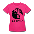 """98% Chimp"" (black) - Women's T-Shirt - T-Shirt - ScienceT-Shirts"