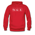"""ThInK"" (white) - Men's Hoodie"
