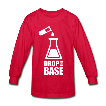 Red Drop The Base Kids' Long Sleeve T-Shirt
