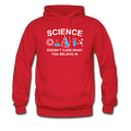 Red Science Doesn't Care Men's Hoodie